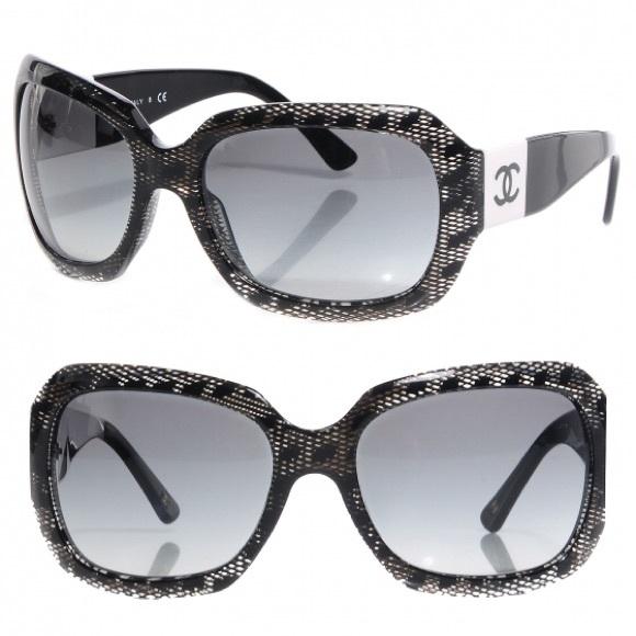 81ca9c1627b7 CHANEL Accessories - Chanel Acetate CC Lace Effect Sunglasses 5146